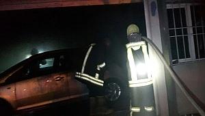 İşyerinde çıkan yangında 4 lüks otomobil kullanılamaz hale geldi
