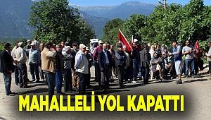 KAMYONLARIN YOLUNU KESTİLER