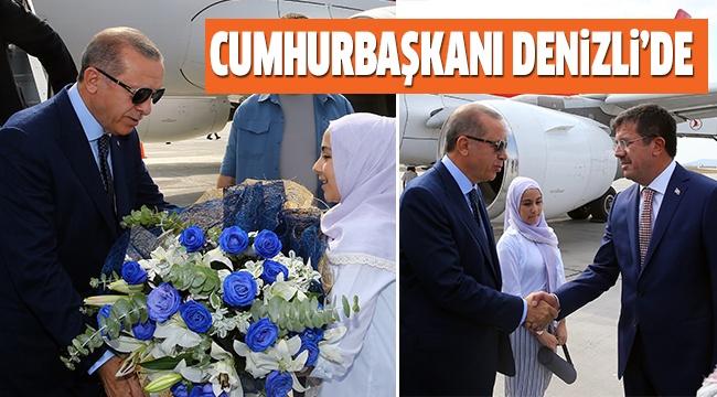 CUMHURBAŞKANI ERDOĞAN DENİZLİ'DE