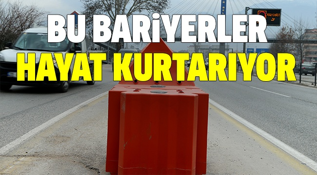 BÜYÜKŞEHİRDEN KAZALARA SU BARİYERLİ ÖNLEM