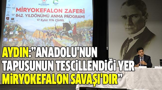 MİRYOKEFALON ZAFERİ'Nİ ANMA PROGRAMI