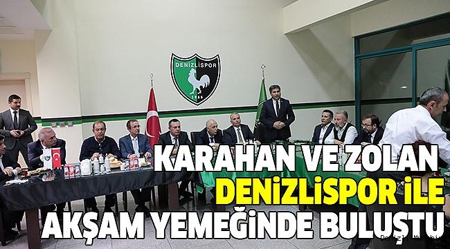 DENİZLİSPOR'A MORAL YEMEĞİ