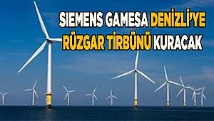 Siemens Gamesa'dan Denizli'ye rüzgar türbini