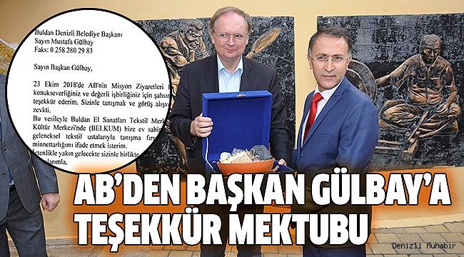 BERGER'DEN GÜLBAY'A TEŞEKKÜR