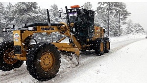 Büyükşehir karla mücadeleye başladı