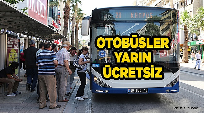 Büyükşehir otobüsleri 15 Aralık Cumartesi günü ücretsiz