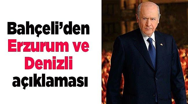 MHP LİDERİNDEN DENİZLİ AÇIKLAMASI!