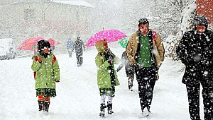 Çardak'ta okullara kar tatili