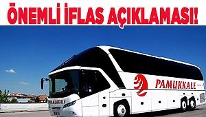 Pamukkale Turizm'den İflas Açıklaması!