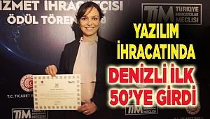 YAZILIM İHRACATINDA DENİZLİ İLK 50'YE GİRDİ.