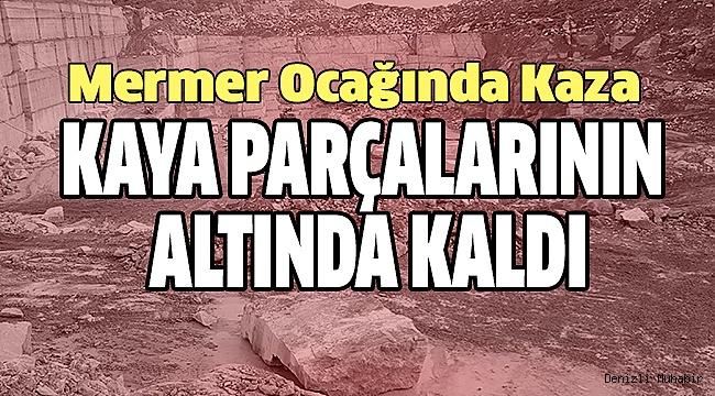ÇAL'DA İŞ KAZASI 1 ÖLÜ
