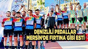 DENİZLİLİ PEDALLAR MERSİN'DE FIRTINA GİBİ ESTİ