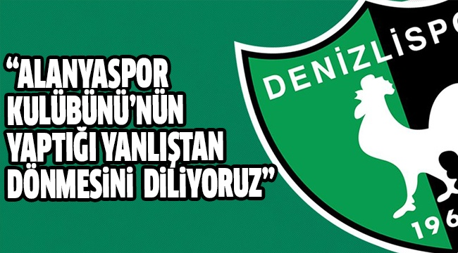 DENİZLİSPOR KULÜBÜ'NDEN DEMİR'E DESTEK