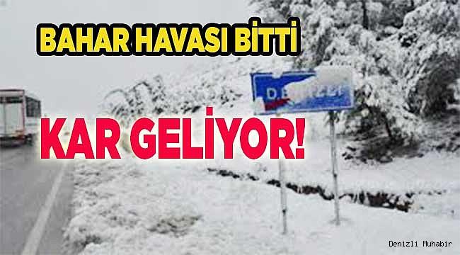 Meteoroloji'den Denizli İçin Kar Uyarısı!