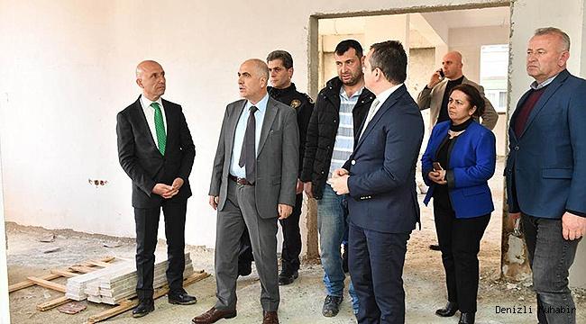 VALİ KARAHAN SARAYKÖY'DE İNCELEMELERDE BULUNDU
