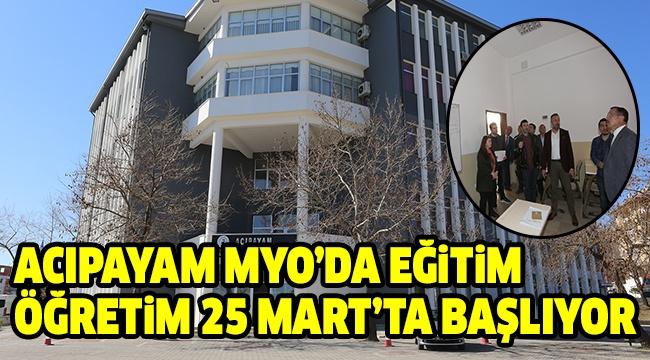 REKTÖR BAĞ, ACIPAYAM MYO'DA İNCELEME YAPTI