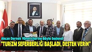 Akcan Dernek Başkanlarını Ağırladı