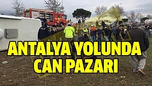 Denizli'de Öğrenci Otobüsü Devrildi 4'ü ağır 32 yaralı