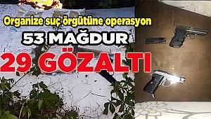 Denizli'de organize suç örgütü operasyonu