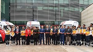 Denizli'ye Tahsis Edilen 7 Ambulans Törenle Hizmete Sunuldu