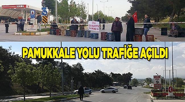 Pamukkale yolu trafiğe açıldı