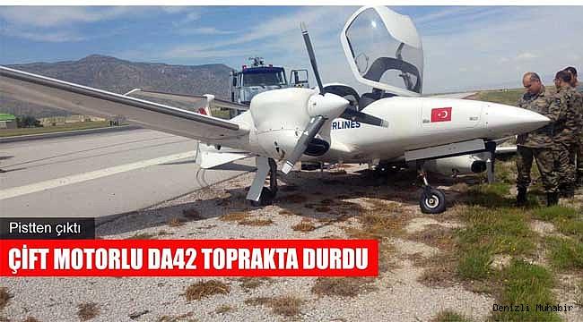 Çardak Havaalanı'nda uçak kazası