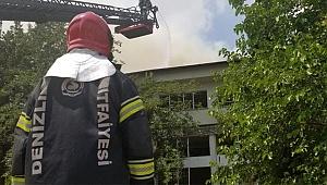 Eski sağlık ocağı binasında yangın