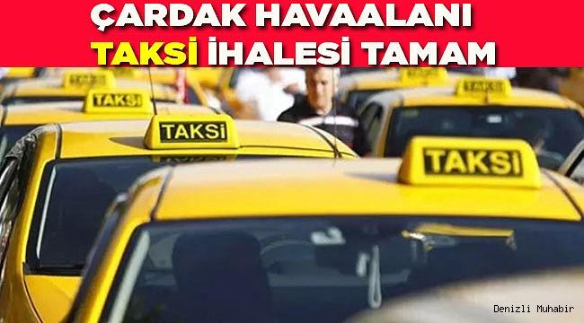 Havaalanı Taksi ihalesi yapıldı