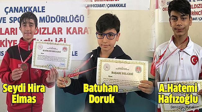Karateciler Türkiye Şampiyonasından Madalyalarla Döndü