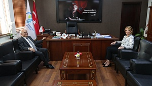 Kaymakam Balcıoğlu'ndan, Başkan Doğan'a Nezaket Ziyareti