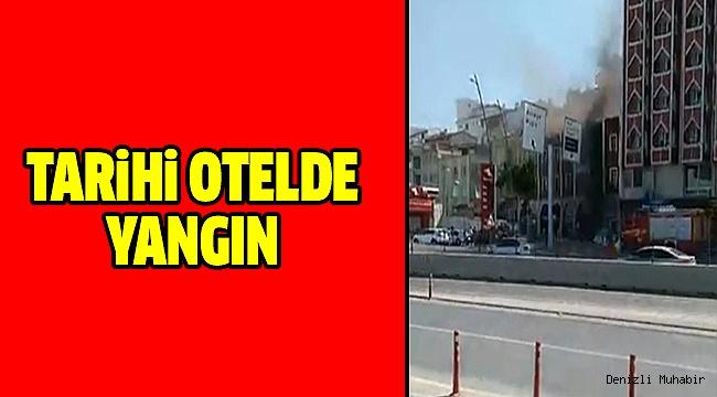Otogar Yanındaki Otelde Yangın