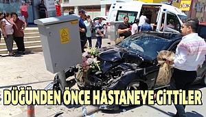 Gelin Arabası Kaza Yaptı:3 Yaralı
