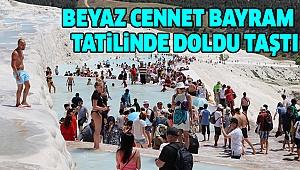 Pamukkale'yi 9 Günde 99 Bin 747 Turist Gezdi