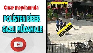 POLİSTEN BİBER GAZLI MÜDAHALE