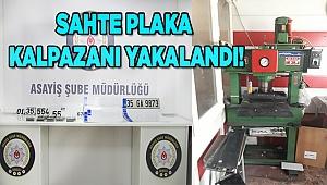 SAHTE PLAKA KALPAZANI YAKALANDI!