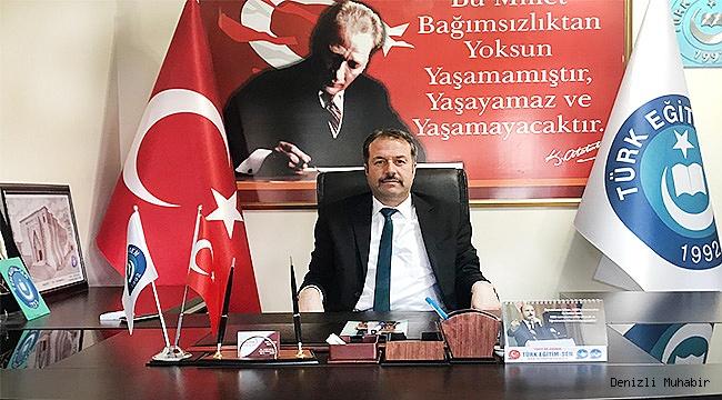 """Türk Eğitim Sen'den, Eğitim Bir Sen'e """"EDEP YA HU"""""""