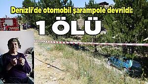 Denizli'de otomobil şarampole devrildi: 1 ölü