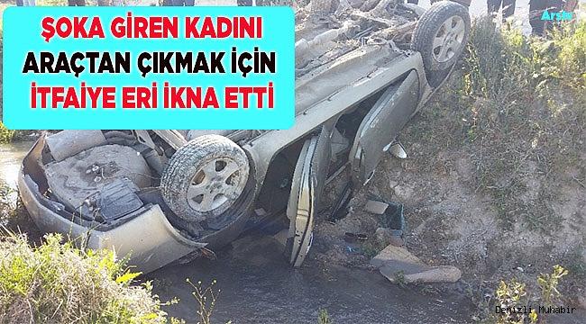 Denizli'de trafik kazası: 2 yaralı