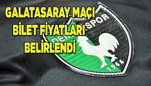 Galatasaray maç bilet fiyatları belli oldu