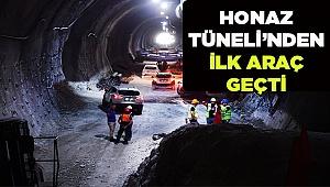 Honaz Tüneli'nden ilk Araç Geçti