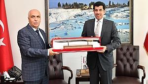 Katar'ın Ankara Büyükelçisi Al-Shafi, Karahan'ı Ziyaret Etti