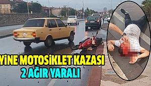 Otomobil İle Elektrikli Bisiklet Çarpıştı