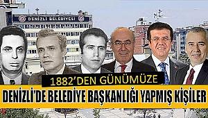 1882'DEN 2019'A KADAR DENİZLİ BELEDİYE BAŞKANLARI
