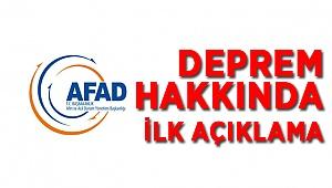 AFAD'tan Açıklama Geldi
