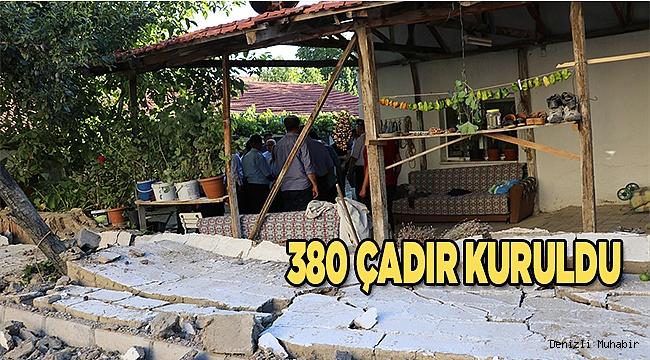 Deprem bölgesinde 329 personel çalışıyor