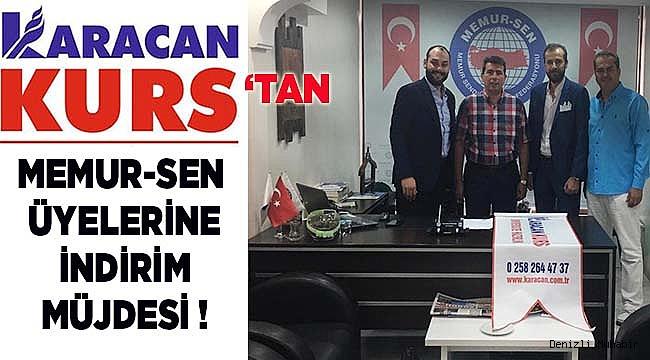 KARACAN'DAN MEMUR-SEN ÜYELERİNE İNDİRİM MÜJDESİ !