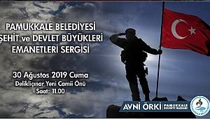 PAMUKKALE BELEDİYESİ'NDEN 30 AĞUSTOS'A ÖZEL SERGİ