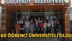 Sarayköy Belediyesi Üniversiteye Hazırlık Kursu bir yılda başarısını 3'e katladı
