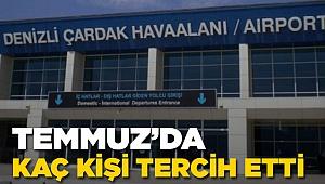 Temmuz'da Çardak Hava Limanını Kaç Kişi Kullandı