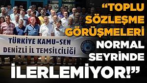 Türkiye Kamu-Sen Toplu Sözleşme Görüşmelerine Tepki Gösterdi
